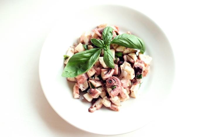 Oktopus Salat + How to cook Video