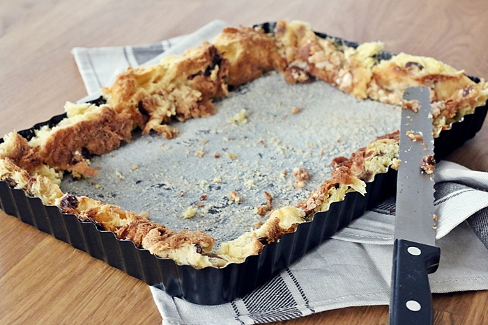 Jamie Oliver's Bonkers Bread & Butter Panettone Pudding Tarte