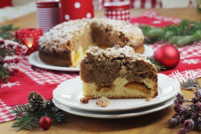 Weihnachtlicher Marmorkuchen Mit Gebrannte Mandeln Streusel