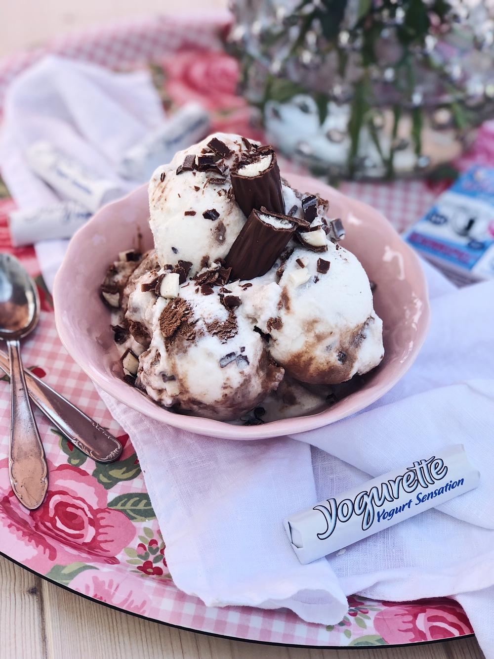 Joghurt-Schoko-Yogurette Eis