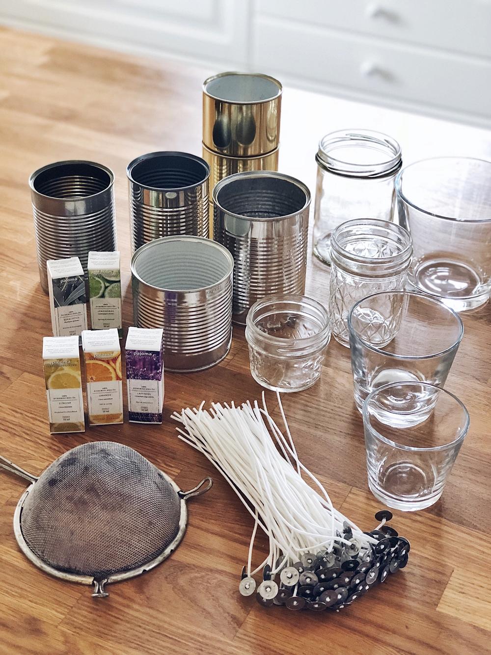 DIY - Kerzen aus Wachsresten selbst gießen
