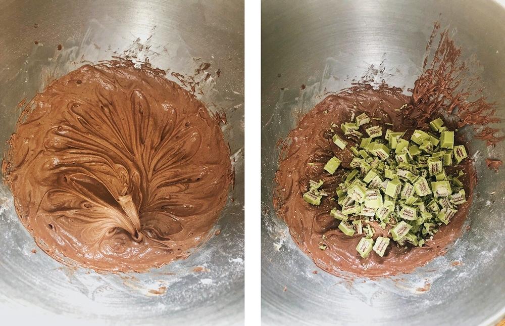 Schokoladen-Matcha-Cupcakes, muffins, matcha, halloween cupcakes,