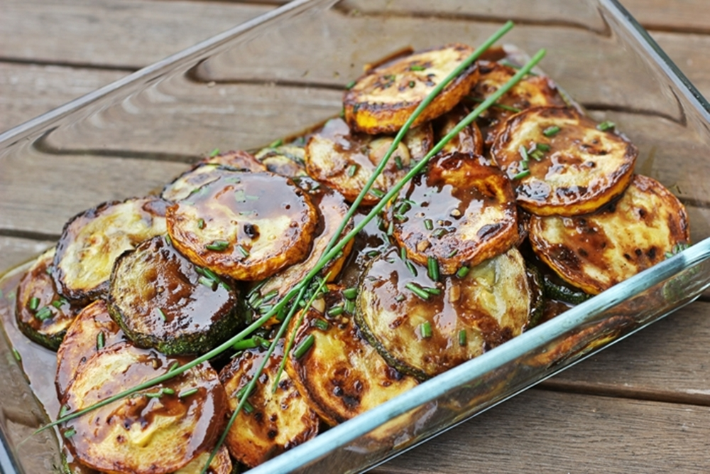 lauwarmer Zucchini Salat grillen bbq vatertag