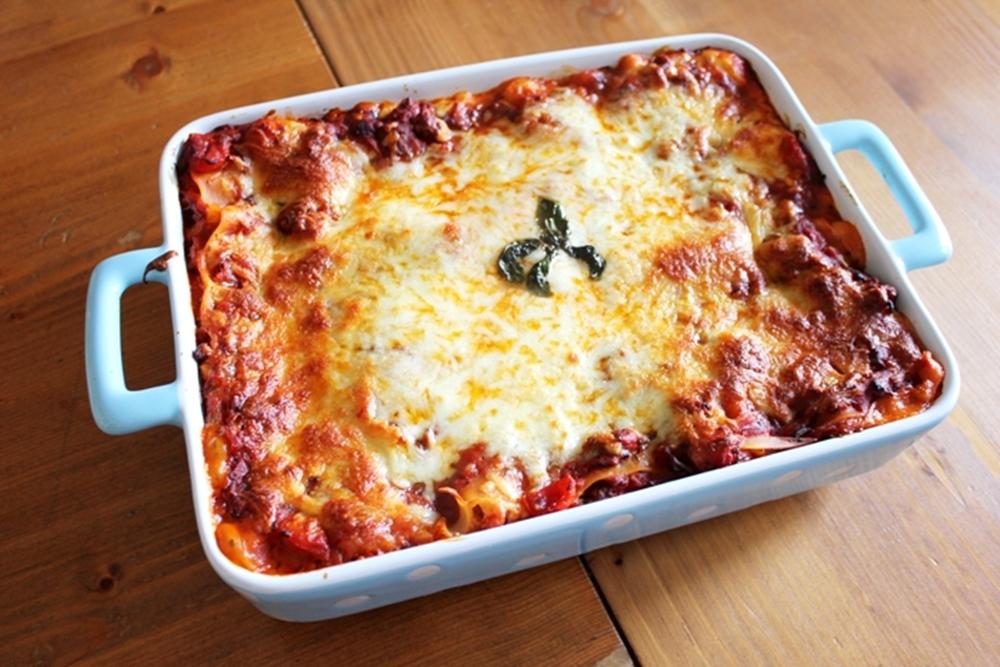 Selbstgemachte Lasagne Vatertag