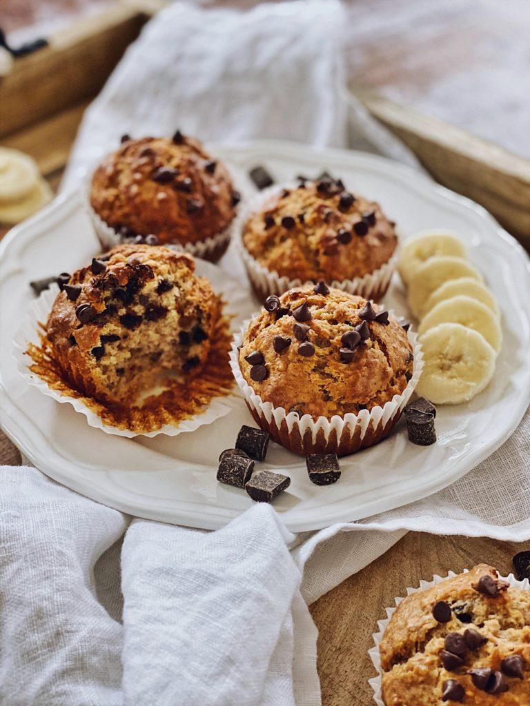Erdnussbutter-Bananen-Schoko Muffins