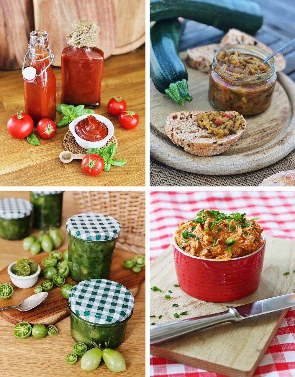 Die besten Brote, Salate, Snacks & Drinks für die Grillsaison kräuterbutter chutney ketchup tomatenmarmelade