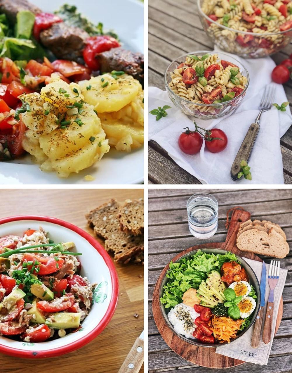 Die besten Brote, Salate, Snacks & Drinks für die Grillsaison salat nudelsalat salatbowl kartoffelsalat
