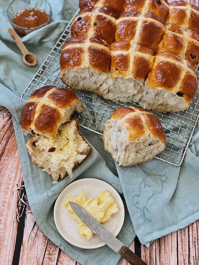 Hot Cross Buns zu Ostern
