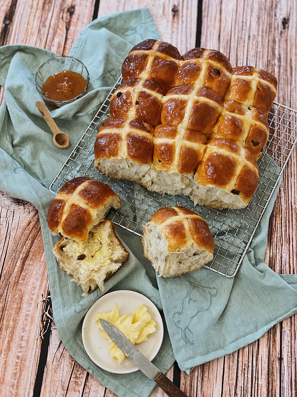 Hot Cross Buns zu Ostern