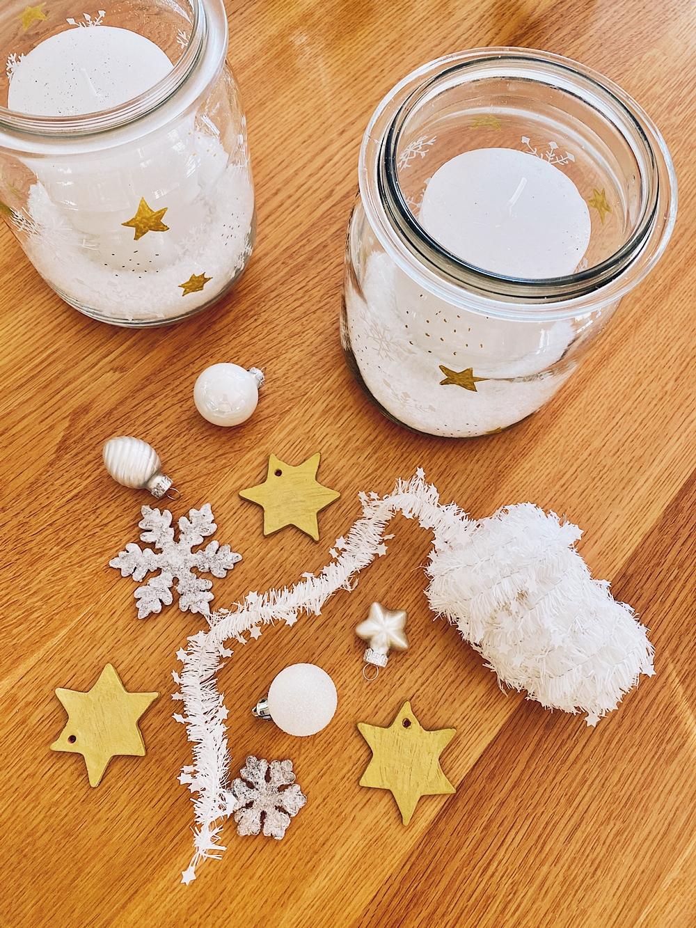 DIY - weihnachtliche Anhänger & Adventskranz Gläser basteln